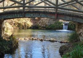 El riu Vinalopó prop del molí de l'Ombria