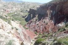 Paixatge de l'Alacantí amb la variació dels colors de les argiles
